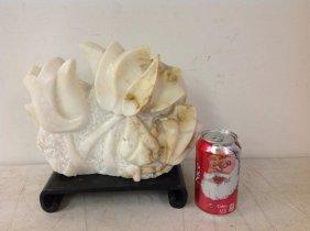 Leo Shaw 20th C Modern Alabaster Sculpture