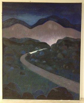 Robert Blanchard O/c Impressionist Landscape Titled The