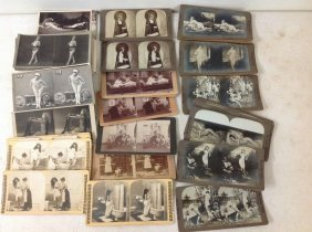 Lot Of 88 Nudes And Risque Stereoviews, Including 38