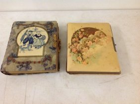 2 Photo Albums With Decorative Celluloid Covers; 1 Has