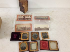 Lot Of Cased Images Plus Paper Including 4 Sixth-plate