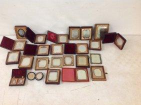 23 Estate Daguerreotypes In Cases, Some Half Cases, A