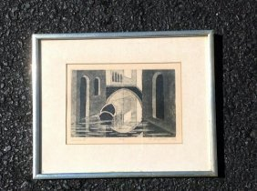 Robert Angeloch Signed Print Titled Venice V, #3 Of 10,