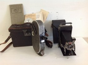Lot Of 2 Old Cameras Including Bell & Howell Filmo