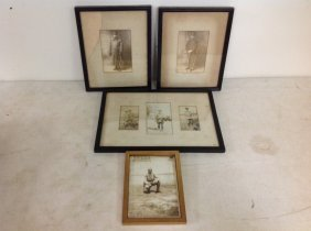 Boxlot 4 Framed Military Photographs, As Pictured