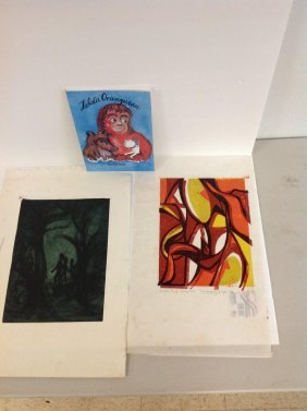 Group Of Hanna Hale Prints & Children's Book, 1 Print