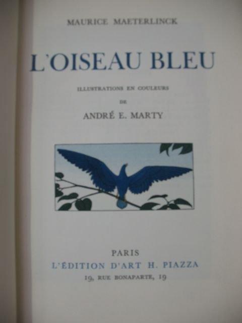 1273 maeterlinck maurice l 39 oiseau bleu marty lot 1273. Black Bedroom Furniture Sets. Home Design Ideas
