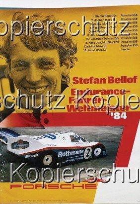 """PORSCHE 5 Racing Posters, No. 1: """"Cup 842"""", No. 2"""