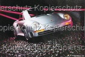 PORSCHE 3x Advertisement, No. 1: Porsche 959, No.