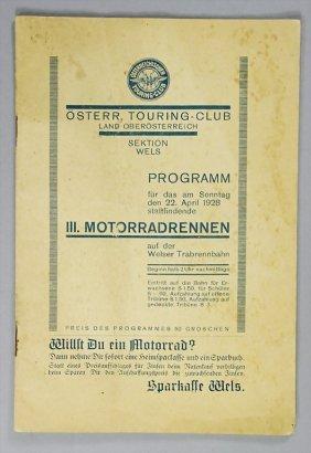 Program 3rd Motorbike Race On The Welser Horse Trot