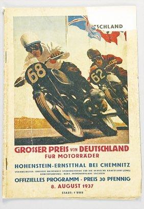 Program Grand Prix Of Germany For Motorbikes, Hohen