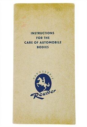 """PORSCHE/KAROSSERIE REUTTER C. 1955, English, """"Ins"""