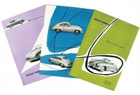 PORSCHE Mixed Lot Of 3 Flyers, No. 1: English Bro