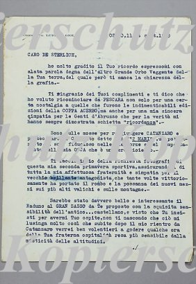 LUIGI FAGIOLI Sep 14th, 1949, Letter To Diego De