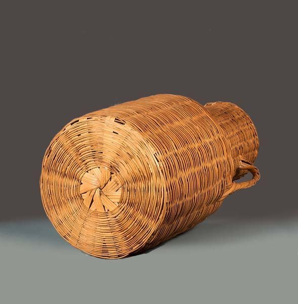 Wicker basket with one handle : Quot tall wicker basket with one handle tapers