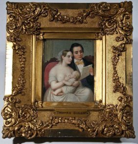 Miniature Family Portrait, Circa 1840s
