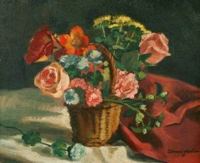 Edmund Martino, Basket Of Flowers