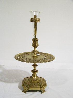 Vintage Bronze Figural Mount Epergne