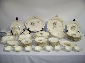 53 Pcs. Of  Royal Copenhagen Floral Pattern China