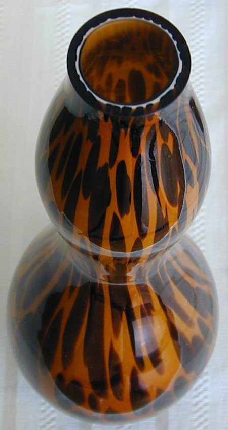 93 3 Tall Quot Tiger Stripe Quot Murano Glass Vases Lot 93