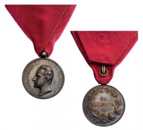 Silver Medal Of Merit, Ferdinand I Prince Of Bulgaria