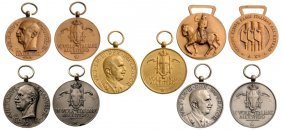 Italian Schools Abroad, Fascist Era Medals: 5 Different
