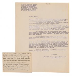 Copy Of The Original Letter Of December 6th, 1922,