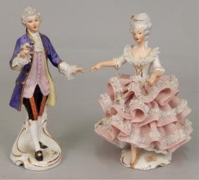 Pair Of German Lace Figurines