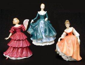 "Three Royal Doulton Figurines, ""Janine""  HN 5164, 7"