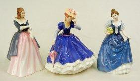 "Three Royal Doulton Figurines, ""Maxine""  HN 3199, 8"