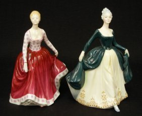 "Two Royal Doulton Figurines ""Fiona"" HN 2694, 8"", C."