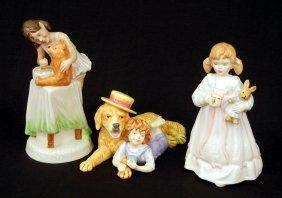 "Three Royal Doulton Figurines ""Bunny's Bedtime"" HN"