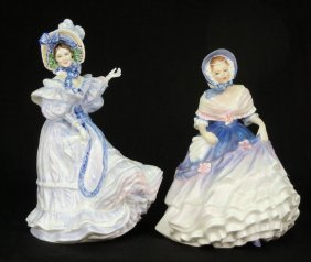 "Two Royal Doulton Figurines ""Flowers Of Love, Forge"