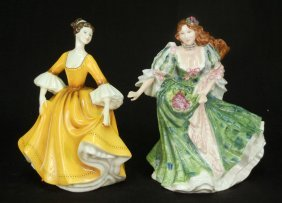 "Two Royal Doulton Figurines ""Stephanie"" HN 2807, 7"
