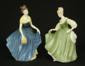 "Two Royal Doulton Figurines ""Fair Lady"" HN 2193, 7"