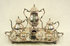 Seven Piece F. B. Rogers Silver Co. Silver Plated