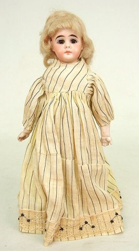 Belton Type Bisque Shoulder Head Doll, Cloth Body,