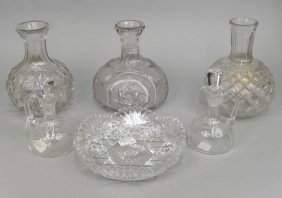 Grouping Of Cut, Blown And Pressed Glass