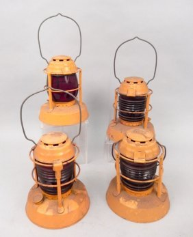 Four Dietz Night Watch Lanterns
