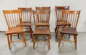 Six Windsor Side Chairs