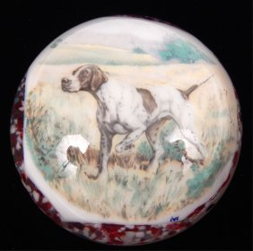 Tom Mosser Hunting Dog On Point Magnum Paperweight