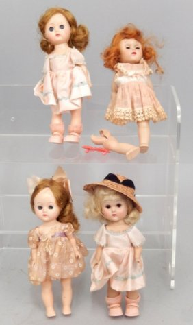 Two Vogue Strung Ginny Dolls And Two Ginny Type Dolls