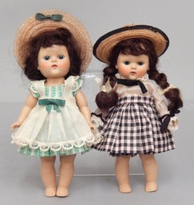 Two 1950's Vogue Strung Ginny Dolls