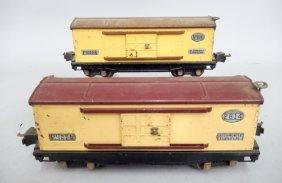 Two Lionel Prewar O Gauge Box Cars