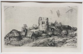 Ca 1850 Rembrandt Etching - Beautifully Framed & M