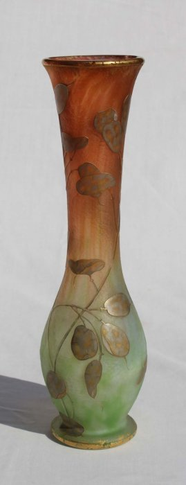 Rare Sgnd Daum Nancy French Cameo Glass Acid Etche