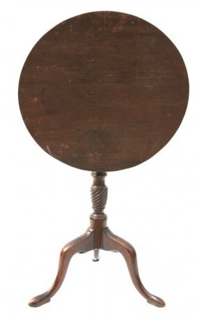 Rare Charleston SC Mahog Tilt Top Candlestand W Won