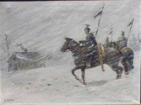 Sgnd H. Krebs 18x24 O/c Dated 1916 Landscape Featur
