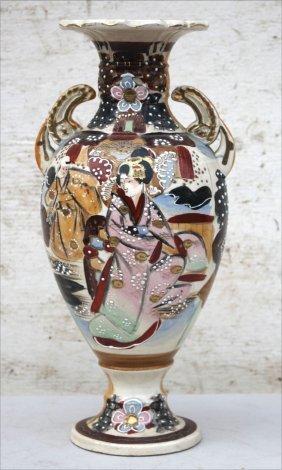 "19thc Satsuma Vase - 12 1/2"" Tall"
