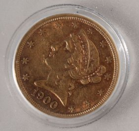 1900 Us $5 Gold Coin